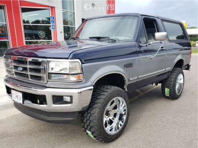"""1994 Ford Bronco - 20x12 -44mm - Hostile Alpha - Suspension Lift 4"""" - 33"""" x 12.5"""""""