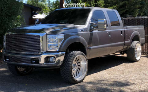 """2012 Ford F-250 - 24x12 -40mm - American Force Flex Ss - Stock Suspension - 33"""" x 12.5"""""""