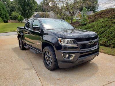 2019 Chevrolet Colorado - 20x9 18mm - Moto Metal Mo970 - Stock Suspension - 265/50R20