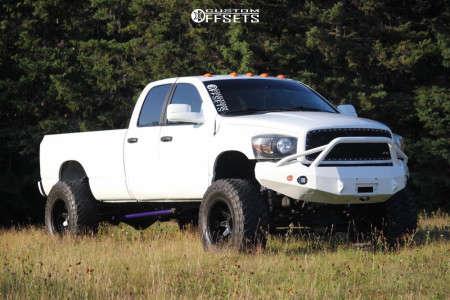 "2005 Dodge Ram 3500 - 20x12 -44mm - Fuel Octane - Suspension Lift 7.5"" - 40"" x 15.5"""