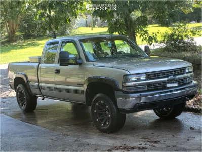"""1999 Chevrolet Silverado 1500 - 18x9 -12mm - Ballistic Jester - Suspension Lift 2.5"""" - 265/70R18"""