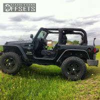 """2012 Jeep Wrangler - 17x8.5 0mm - Original Rubicon - Suspension Lift 3"""" - 35"""" x 12.5"""""""