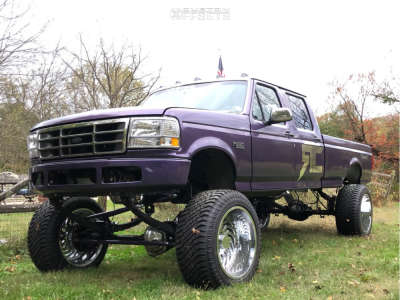 """1996 Ford F-350 - 24x14 -81mm - ARKON OFF-ROAD Crown Series Victory - Suspension Lift 12"""" - 325/45R24"""
