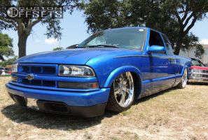 "2001 Chevrolet S10 - 19x8.5 6mm - BAD Rockstar - Air Suspension - 25"" x9.5"""