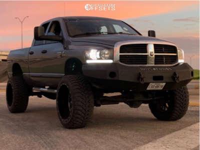 "2007 Dodge Ram 2500 - 24x14 -76mm - TIS 544 - Suspension Lift 5"" - 37"" x 13.5"""