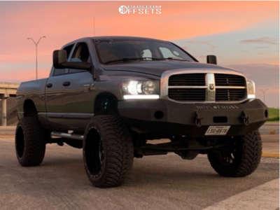 "2007 Dodge Ram 2500 - 24x14 -76mm - TIS 544bm - Suspension Lift 5"" - 37"" x 13.5"""