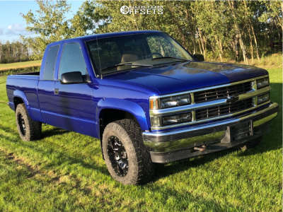 1995 Chevrolet K1500 - 17x9 -12mm - Fuel Lethal - Stock Suspension - 285/70R17