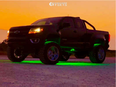 "2016 Chevrolet Colorado - 20x12 -44mm - American Offroad A106 - Suspension Lift 8"" - 35"" x 13.5"""