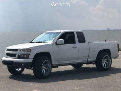 "2012 Chevrolet Colorado - 20x12 -51mm - ARKON OFF-ROAD Lincoln - Suspension Lift 3"" - 285/50R20"