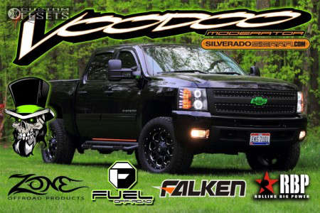 2011 Chevrolet Silverado 1500 - 20x9 1mm - Fuel Boost - Leveling Kit - 305/55R20