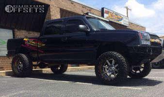 """2005 Chevrolet Silverado 1500 - 22x14 -70mm - Fuel Renegade - Suspension Lift 6"""" - 35"""" x 12.5"""""""