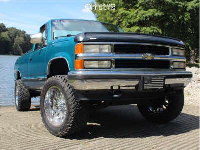 "1994 Chevrolet K1500 - 20x10 -25mm - TIS 544c - Body Lift 3"" - 33"" x 12.5"""