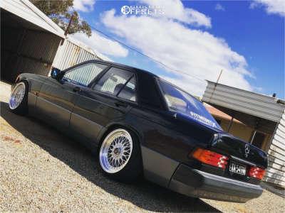 1993 Mercedes-Benz 190E - 17x8.5 15mm - JNC Jnc004 - Lowering Springs - 195/40R17