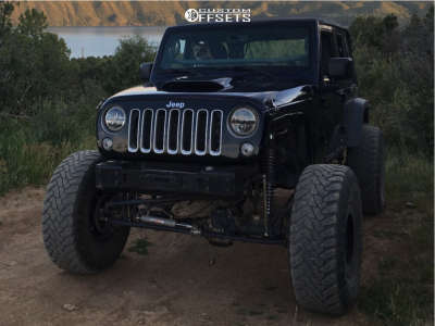 "2013 Jeep Wrangler JK - 17x9 -24mm - American Racing Atx Chamber Pro Ii - Suspension Lift 7"" - 40"" x 13.5"""