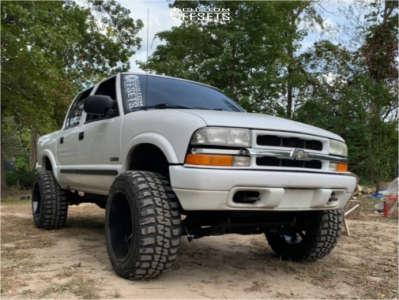 "2003 Chevrolet S10 - 20x12 -44mm - ARKON OFF-ROAD Lincoln - Suspension Lift 6"" - 33"" x 12.5"""