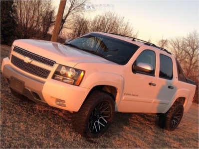 "2008 Chevrolet Avalanche - 22x10 -25mm - Dropstars 654mb - Leveling Kit - 33"" x 12.5"""