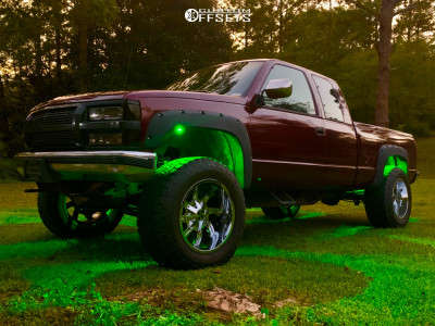 """1993 Chevrolet K1500 - 20x12 -44mm - Cali Offroad Twisted - Body Lift 3"""" - 325/60R20"""