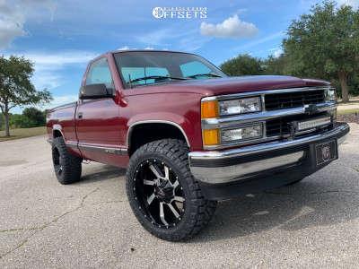 1995 Chevrolet C1500 - 20x10 -24mm - Karma Offroad K23 - Leveling Kit - 275/55R20