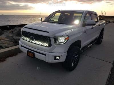 "2018 Toyota Tundra - 20x9.5 18mm - Black Rhino Shrapnel - Leveling Kit - 33"" x 12.5"""