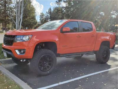 """2019 Chevrolet Colorado - 20x9 0mm - Fuel Vector - Suspension Lift 5.5"""" - 305/55R20"""