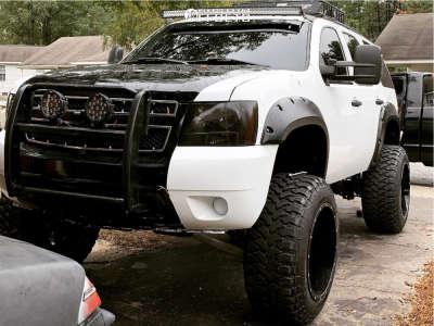 "2007 Chevrolet Tahoe - 22x14 -76mm - Moto Metal Mo962 - Suspension Lift 7.5"" - 37"" x 13.5"""