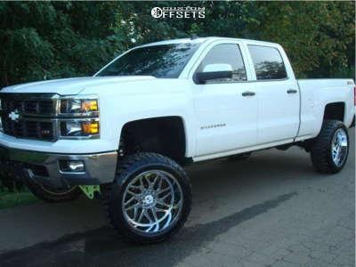 "2014 Chevrolet Silverado 1500 - 22x12 -44mm - Hostile Sprocket - Suspension Lift 7"" - 35"" x 12.5"""