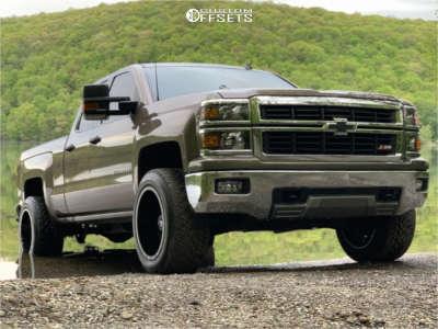 2014 Chevrolet Silverado 1500 - 20x12 -44mm - RBP Glock - Stock Suspension - 305/50R20