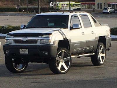 "2003 Chevrolet Avalanche 1500 - 26x10 31mm - DUB Baller - Suspension Lift 6"" - 35"" x 13.5"""