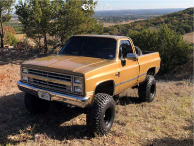 "1985 Chevrolet K10 - 15x12 -63mm - Bart Super Trucker - Suspension Lift 4"" - 35"" x 12.5"""