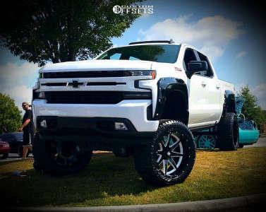 "2019 Chevrolet Silverado 1500 - 24x12 -44mm - Havok H112 - Suspension Lift 12"" - 345/50R24"