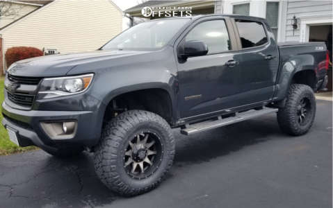 "2017 Chevrolet Colorado - 18x9 -12mm - Raceline Shift - Suspension Lift 5.5"" - 295/70R18"