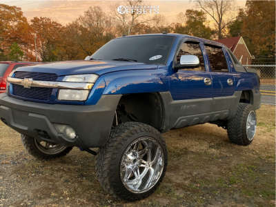 "2003 Chevrolet Avalanche 1500 - 22x14 -76mm - Fuel Hostage - Suspension Lift 6.5"" - 35"" x 12.5"""