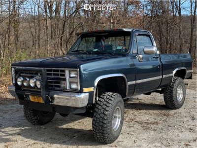 "1985 Chevrolet K10 Pickup - 15x10 -44mm - American Racing Ar23 - Suspension Lift 4"" - 35"" x 12.5"""