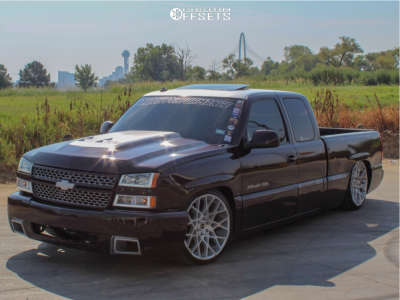 2003 Chevrolet Silverado 1500 - 22x9.5 24mm - Strada Buca - Lowered 6+F / 8+R - 265/35R22