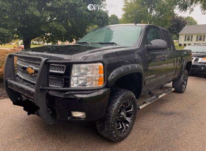 """2012 Chevrolet Express 1500 - 20x10 -18mm - Fuel Assault - Body Lift 3"""" - 305/55R20"""