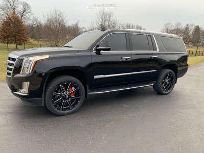 2019 Cadillac Escalade ESV - 22x9.5 25mm - Fuel Maverick - Leveling Kit - 305/45R22