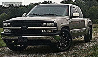 "2000 Chevrolet Silverado 1500 - 20x9 14mm - Fuel Maverick - Stock Suspension - 27"" x 9.5"""