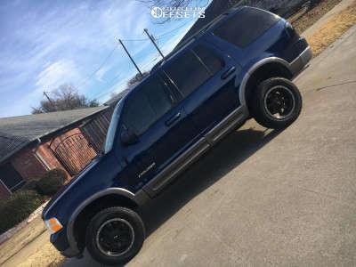 2004 Ford Explorer - 17x8.5 18mm - G-FX Tr14 - Leveling Kit & Body Lift - 245/65R17