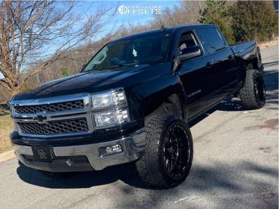 "2015 Chevrolet Silverado 1500 - 22x12 -44mm - TIS 544bm - Suspension Lift 5.5"" - 35"" x 13.5"""