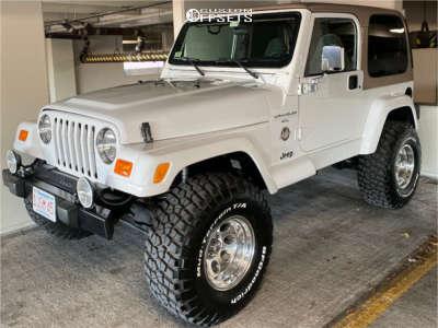 "2000 Jeep TJ - 15x10 -38mm - Alloy Ion 171 - Suspension Lift 2.5"" - 33"" x 12.5"""