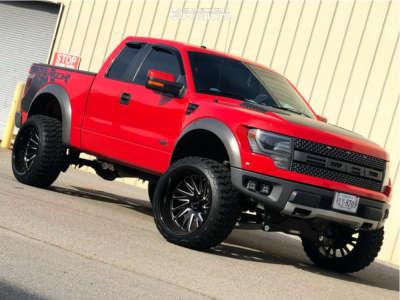 """2013 Ford Raptor - 24x14 -72mm - Tuff T2a - Suspension Lift 4"""" - 35"""" x 13.5"""""""