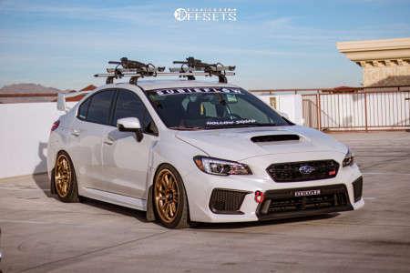 2019 Subaru WRX STI - 18x9 33mm - Cosmis Racing XT-206R - Coilovers - 235/40R18