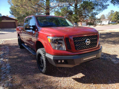"""2016 Nissan Titan XD - 20x9 12mm - Panther Offroad 580 - Leveling Kit - 33"""" x 12.5"""""""