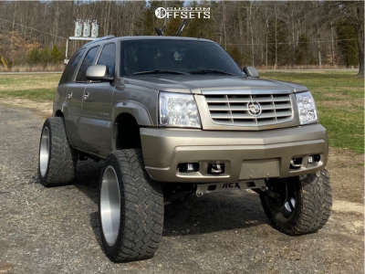 """2002 Cadillac Escalade - 24x14 -76mm - Xtreme Force Xf1 - Suspension Lift 6"""" - 375/40R24"""