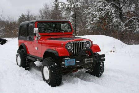 """1977 Jeep CJ5 - 15x12 -73mm - Mickey Thompson Classic Iii - Suspension Lift 4"""" - 35"""" x 12.5"""""""