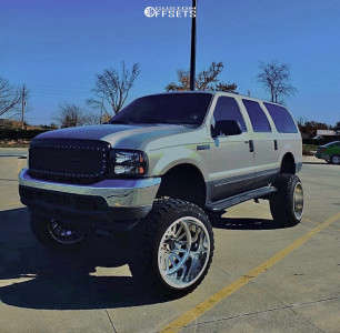 """2003 Ford Excursion - 24x16 -101mm - Fuel Forged Ff16 - Suspension Lift 10"""" - 37"""" x 13.5"""""""