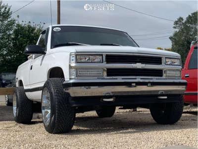 1995 Chevrolet K1500 - 20x12 -44mm - Dropstars 654c - Stock Suspension - 295/45R20