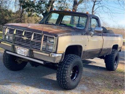 "1984 Chevrolet K20 - 15x10 -45mm - Summit Steel - Suspension Lift 4"" - 35"" x 12.5"""