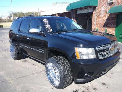 2010 Chevrolet Tahoe - 22x14 -76mm - Scorpion Sc23 - Stock Suspension - 305/40R22