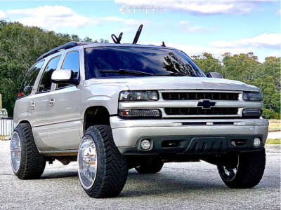 """2006 Chevrolet Tahoe - 22x14 -76mm - Fuel Forged Ffc39 - Leveling Kit - 33"""" x 12.5"""""""